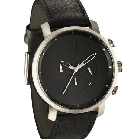 MVMT Watchesメンズ腕時計CHRONO SILVER/BLACK LEATHER//送料無料