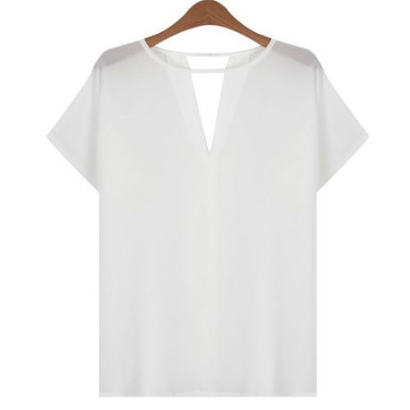 White Simple Blouse