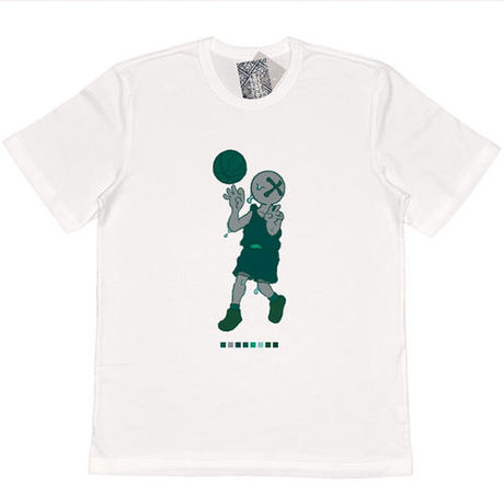 """Brotherhood """"Pass in green"""" Tee / 白"""