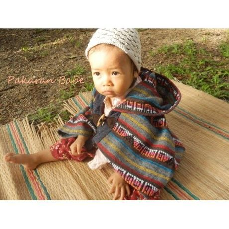 Baby Poncho Jacket  with Hood / Indian Asian Matching Outfit Mom and Baby girl
