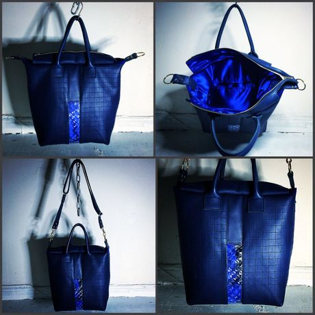 """""""ICE"""" LEATHER TOTE BAG"""