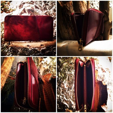 """""""SISI"""" ROUNDZIP LEATHER WALLET"""