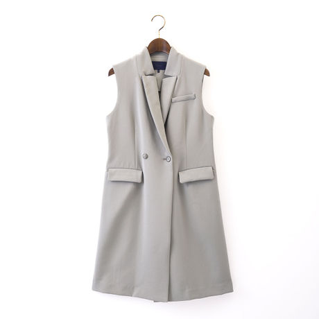 1510-08-101 Double Cloth Long Gilet