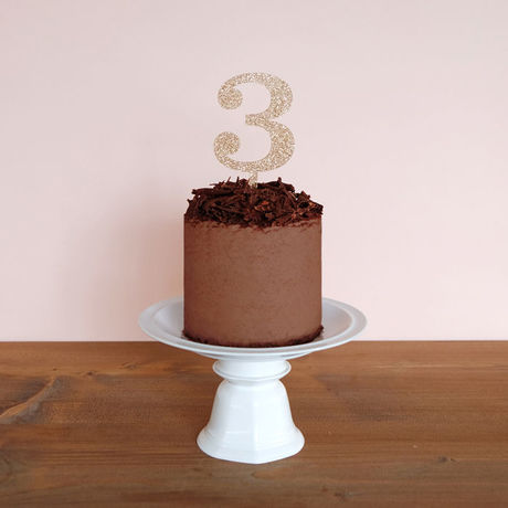 Cake Topper - Classical Number (1,2,3,4,5,6,7,8,9,0)