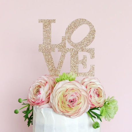 Cake Topper - Pop Art Love