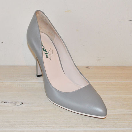 kanarian KI-91A POINTED TOE PUMPS SMOOTH GRAY