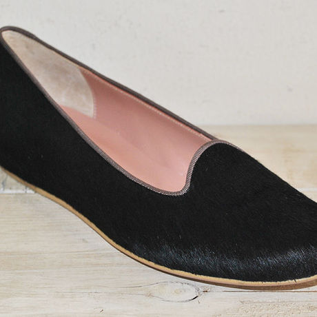 kanarian INHEEL PUMPS KI-1554A PONY BLACK