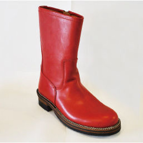 guranisuta GR-KE318N RED ZIP ENGINEER BOOTS