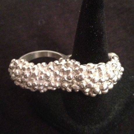 2 finger bubble ring(silver)