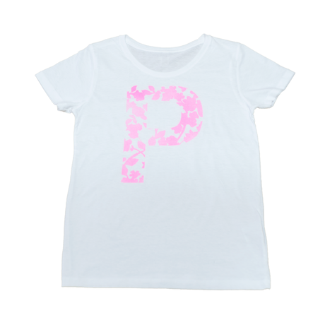"""LEAF SILHOUETTE """"P"""" T-Shirts WHT"""