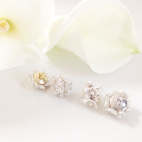 Petite flower bouquet  earrings