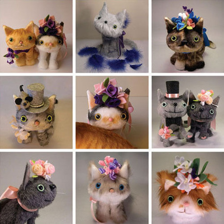 welcome cat / wedding doll