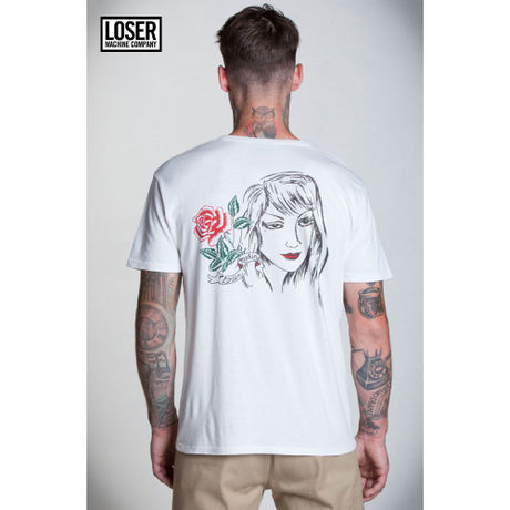 Loser Machine(ルーザーマシーン)Senorita Rosa Old Time Tee ホワイト
