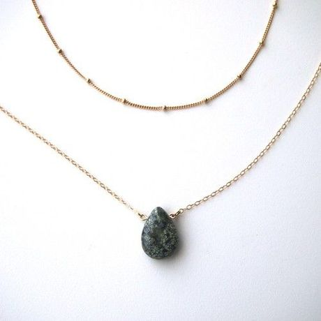 SHIZUKU  Turquoise Drop necklace 2連ネックレス