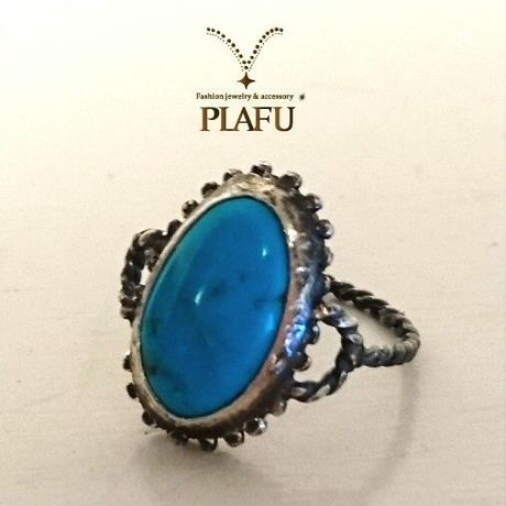 Blue Flower ring-turquoise-
