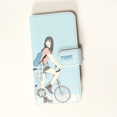 手帳型iPhoneケース bicycle Girl Ⅱ