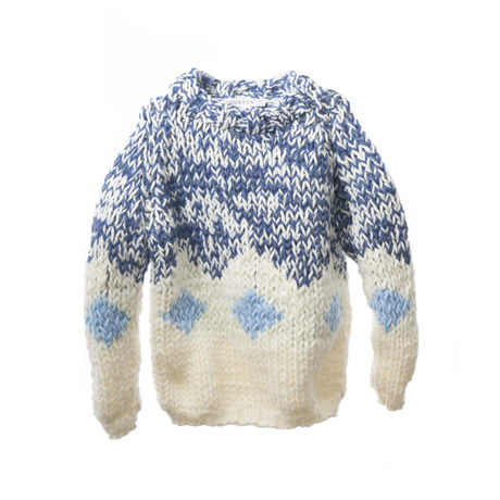 HAND-KNITED RHOMBUS SWEATER