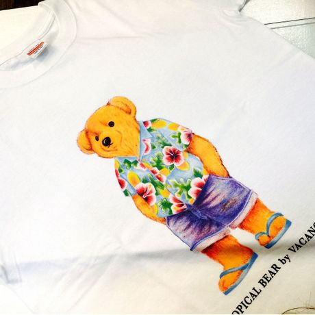 TROPICAL  BEAR アロハ(白)
