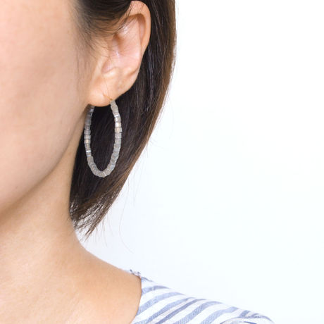 14KGF Glass Hoops / GY