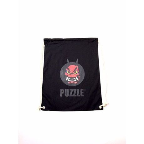 PUZZLE×eight graphics NAMAHAGE LOGO knap sack ブラック