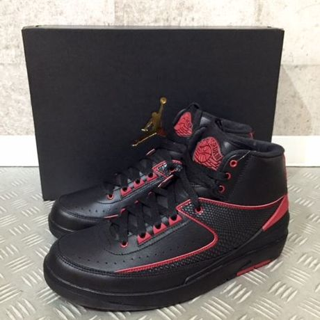 NIKE AIR JORDAN 2 RETRO ALTERNATE ブラック×レッド 9.5