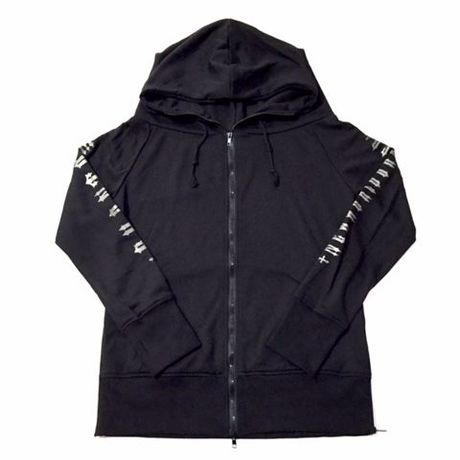 Phantom NYC SIDE ZIP LONG hoodie ブラック L