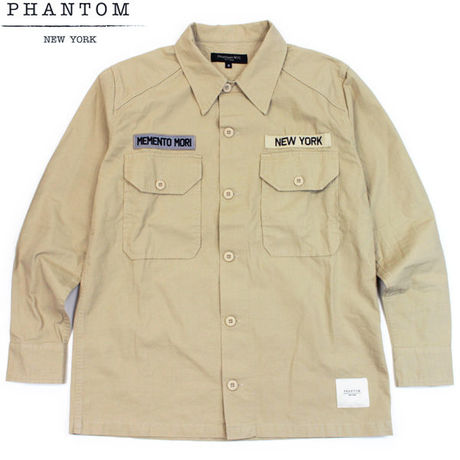 Phantom NYC RIPSTOP CPO shirts ベージュ