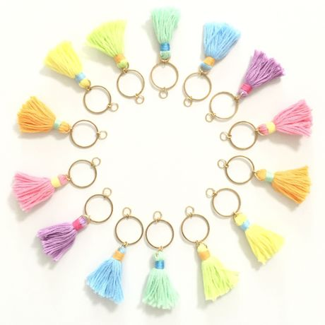 Cotton Tassel  EarJacket Dress up  Parts