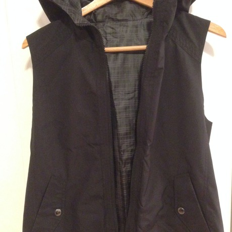 hooded reversible vest/BURBERRY BLACK LABEL