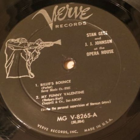 Stan Getz, J.J. Johnson / At the Opera House (Verve MG V-8265) mono
