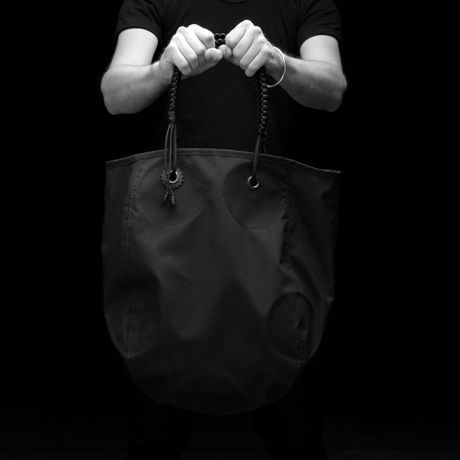 HEAVY DUTY-MARKⅡ TOTE (GRAY CIRCLES)