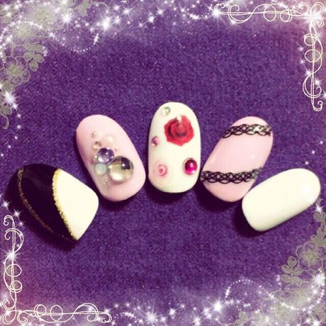 ROCK NAIL〜薔薇〜(今だけ1000円OFF!SALE価格)