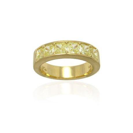 ‼SOLD‼ 25%Off YG18K. Diamond Band set with Radiant Cut Fancy Yellow Diamonds 1.92cts, (1.92Ct TW)