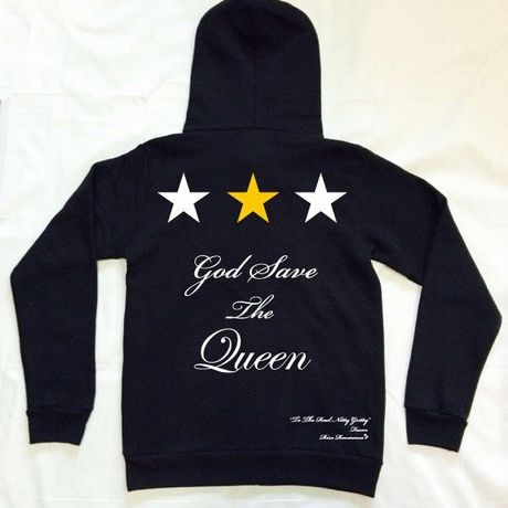 Rise Reverence ライズリヴァレンス God Save 3スターGold パーカ [rp0008G Black]
