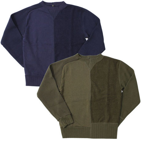 """Nigel Cabourn(ナイジェルケーボン)""""ARMY CREW JERSEY MIX"""""""