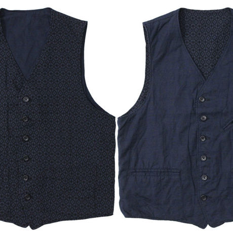 """Engineered Garments(エンジニアードガーメンツ)""""REVERSIBLE VEST - JAVA CLOTH"""""""