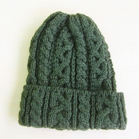 HIGHLAND 2000 British Wool Cable Bobcap Olive