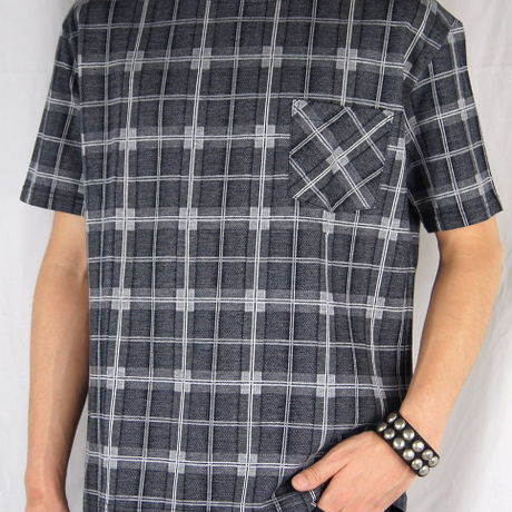 CHRISTIAN DADA Checkered Jacguard Crew Neck T-shirt【クリスチャンダダ】