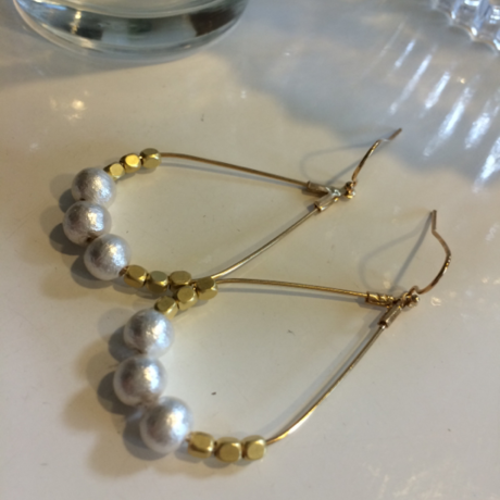 Goldmetal Cotton pearl pierce