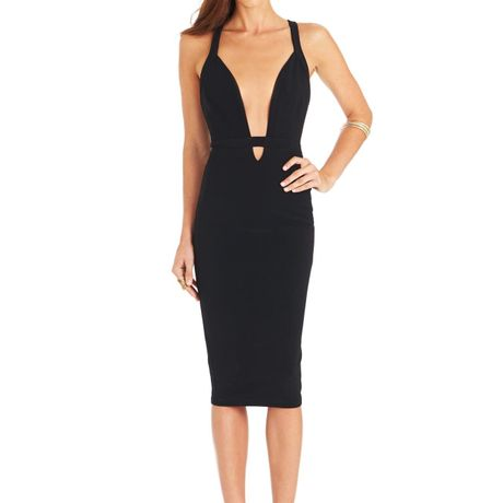 Eva Bodycon dress  Black/Black
