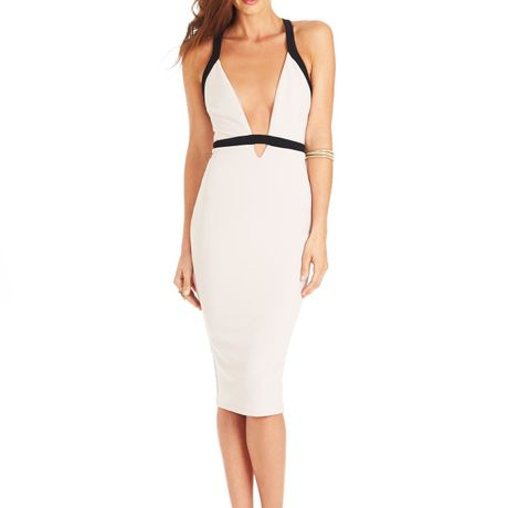 Eva Bodycon  Dress   Nude/Black