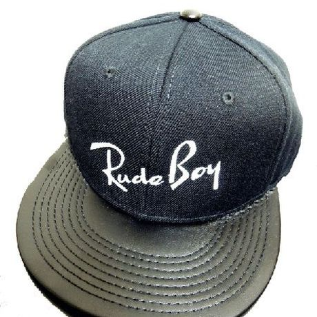 RUDE BOY SNAPBACK CAP wit LEATHER BRIM