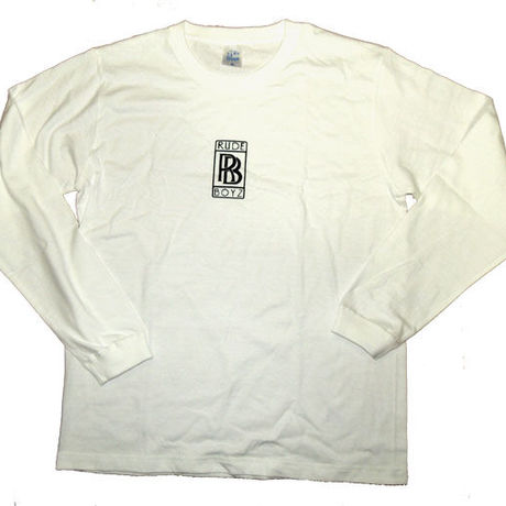 """""""RB""""LOGO L/S T-SHIRTS IN WHITE"""