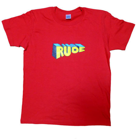 """""""RUDE"""" GRAPHIC Tee in RED."""