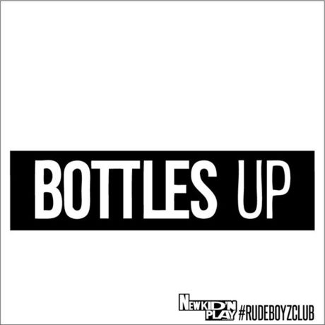 """""""BOTTLES UP"""" NEWKID'NPLAY×RUDEBOYZCLUB LIMITED HANDKERCIEF"""