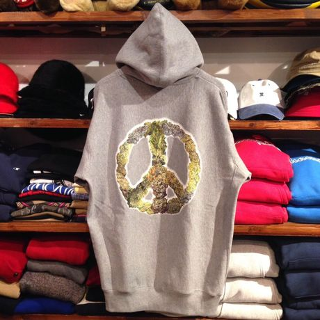 """【ラス1】RUGGED """"GREEN PEACE"""" heavy weight pullover hoody (Gray)"""