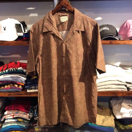 L.L.Bean open collar shirt(M)