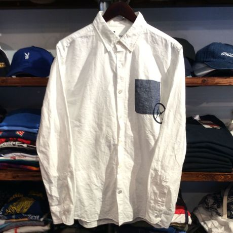 VANQUISH&FRAGMENT  chambray pocket shirt