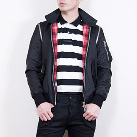 Shinyayamaguchi(シンヤヤマグチ) Harrington MA-1 Jacket  BLACK