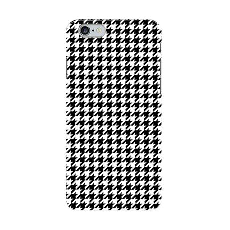 houndstooth iPhoneケース/Black x White